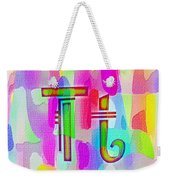 Colorful Texturized Alphabet Tt Weekender Tote Bag