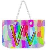 Colorful Texturized Alphabet Vv Weekender Tote Bag