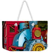 Colorful Train Weekender Tote Bag