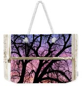 Colorful Tree White Farm House Window Portrait View Weekender Tote Bag