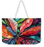 Colorful Tropical Leaves 2 Weekender Tote Bag