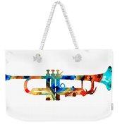 Colorful Trumpet Art By Sharon Cummings Weekender Tote Bag by Sharon Cummings