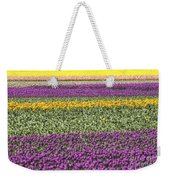 colorful tulips in Holland Weekender Tote Bag