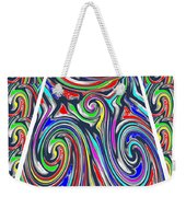 Colorful Twirl Wave Shield Design Background Designs  And Color Tones N Color Shades Available For D Weekender Tote Bag