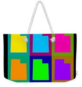 Colorful Utah State Pop Art Map Weekender Tote Bag