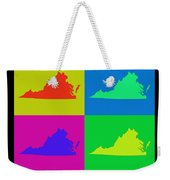 Colorful Virginia State Pop Art Map Weekender Tote Bag
