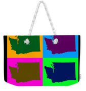 Colorful Washington State Pop Art Map Weekender Tote Bag