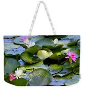 Colorful Water Lily Pond Weekender Tote Bag