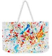 Colorful Watercolor Splash On White Paper Weekender Tote Bag