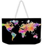 Colorful Watercolor World Map Weekender Tote Bag