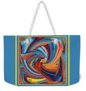 Colorful Waves Weekender Tote Bag