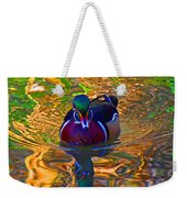 Colorful World Of Wood Duck Weekender Tote Bag