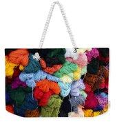 Colorful Yarn Otavalo Market Ecuador Weekender Tote Bag