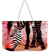 Colorful Zebra - Buy Black And White Stripes Art Weekender Tote Bag