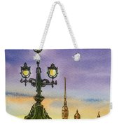 Colors Of Russia Bridge Light In Saint Petersburg Weekender Tote Bag