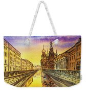 Colors Of Russia St Petersburg Cathedral I Weekender Tote Bag by Irina Sztukowski
