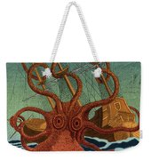 Colossal Octopus Attacking Ship 1801 Weekender Tote Bag