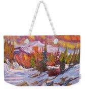 Coloured Winter Weekender Tote Bag