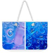 Colourful Bubble Abstract Quadriptych Weekender Tote Bag