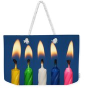 Colourful Candles Lit Weekender Tote Bag