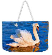 Colourful Swan Weekender Tote Bag