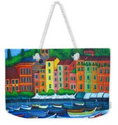 Colours Of Portofino Weekender Tote Bag by Lisa  Lorenz