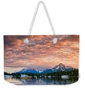 Colter Bay Sunset Weekender Tote Bag