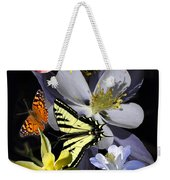 Columbine And Butterfly Collage Weekender Tote Bag