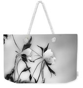Columbines In Black And White Weekender Tote Bag