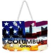 Columbus Oh Patriotic Large Cityscape Weekender Tote Bag