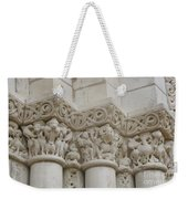 Column Relief Abbey Fontevraud  Weekender Tote Bag