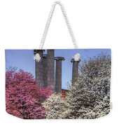 Columns And Dogwood Trees Weekender Tote Bag