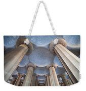Columns And Domes Of Hypostyle Room In Park Guell Weekender Tote Bag