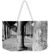 Columns At The Church Of Nativity Black And White Vertical Weekender Tote Bag