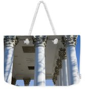 Columns Facing The Lawn Of The Rotunda Weekender Tote Bag