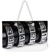 Combination Lock Macro Weekender Tote Bag