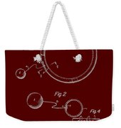 Combined Hoop And Tethered Ball Toy Patent 1967 Weekender Tote Bag