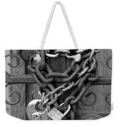 Come On In In Black And White Weekender Tote Bag