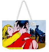 Comic Strip Kiss Weekender Tote Bag by MGL Studio