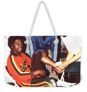 Coming To The Sad End Of A Long Career In The Old School Roller Derby  Weekender Tote Bag