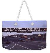 Fort Ord  Commander  Major General Marvin L. Covault  7th Infantry Division 1992 Weekender Tote Bag