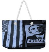 Commercialization Of The President Of The United States In Cyan Weekender Tote Bag