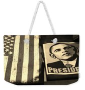 Commercialization Of The President Of The United States In Sepia Weekender Tote Bag by Rob Hans