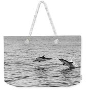 Common Dolphins Leaping. Weekender Tote Bag