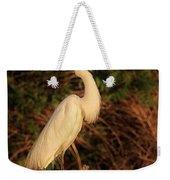Common Egret Of Palestine Lake Weekender Tote Bag