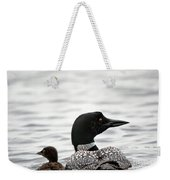 Common Loon And Baby Weekender Tote Bag