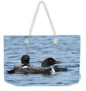 Common Loon Family Weekender Tote Bag