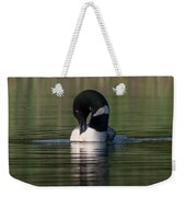 Common Loon Preening Weekender Tote Bag