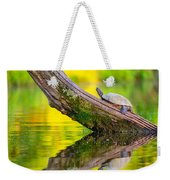 Common Map Turtle Weekender Tote Bag