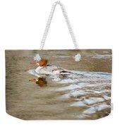 Common Merganser Hen Weekender Tote Bag